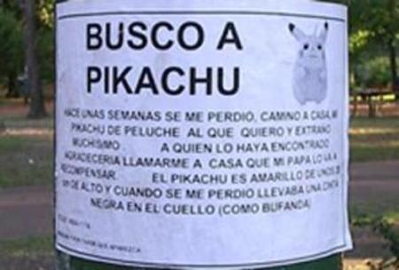 Pikachu perdido