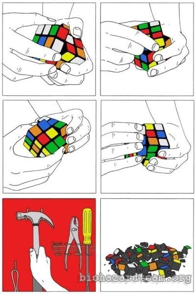 Resolviendo un cubo de rubik